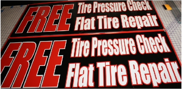 Free Tire check repair banners