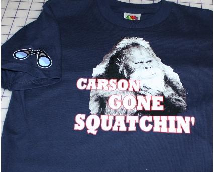 Carson gone Squatchin custom tshirt