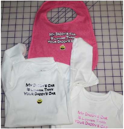 My Daddys Car Lower custom baby onesies