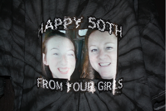 Happy 50th from your girls custom photo