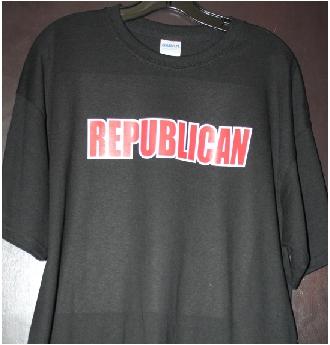 Republican custom tshirt print Puyallup