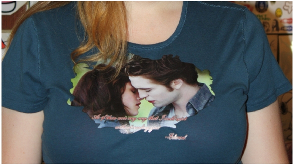 Twilight Edward custom fan tshirt