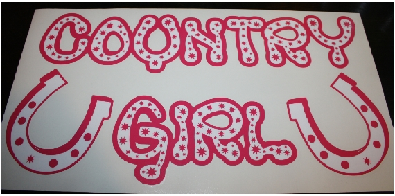 Country Girl custom vinyl sticker decal.