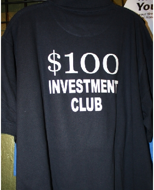 100 investment club custom shirt