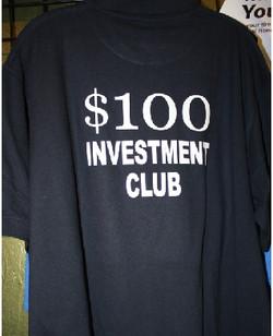 100 investment club custom shirt