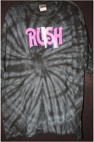 Rush custom fan tshirt