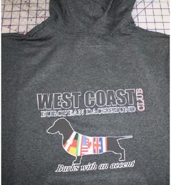 West Coast European Dachshund club hoodi