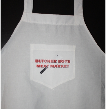 Butcher Boys Meat Market custom apron pr