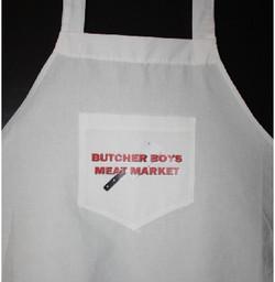 Butcher Boys Meat Market custom apron pr