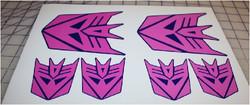 Transformer Decepticon custom pink & pur