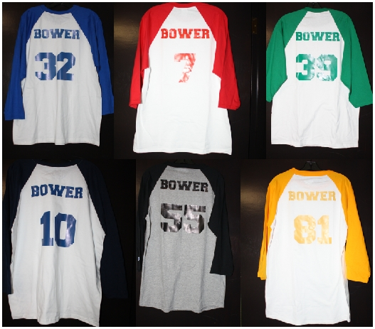 Bower baseball tshirts