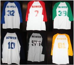 Bower baseball tshirts
