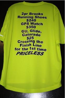Runner priceless custom tshirt