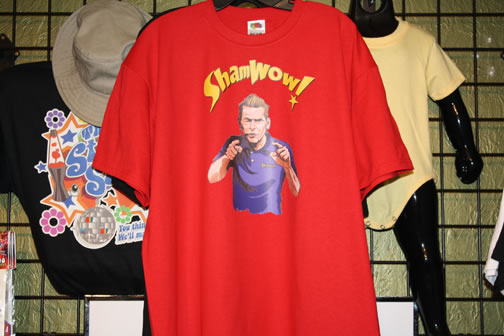 funny gag custom t-shirt shamwow guy
