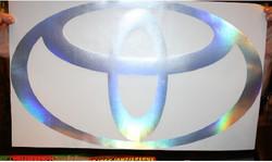 Toyota custom logo prism chrome vinyl de