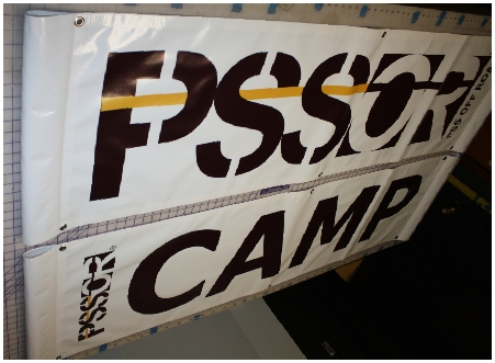 PSSOR Camp pole pocket banners
