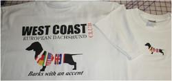 West Coast European Dachshund club tshir
