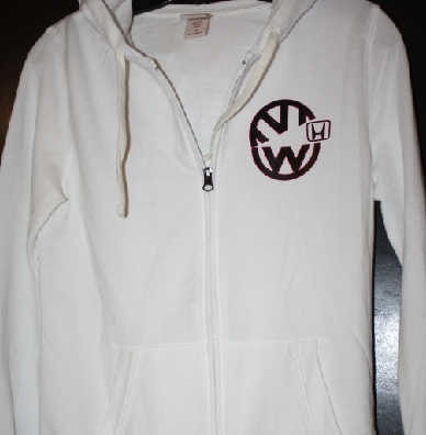 VW logo eating Honda logo custom hoodie