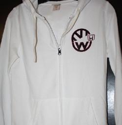 VW logo eating Honda logo custom hoodie