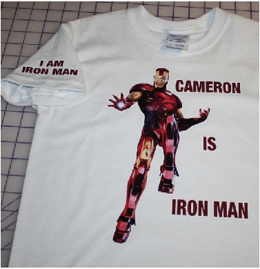 Cameron is Iron Man custom made tshirt