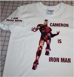 Cameron is Iron Man custom made tshirt