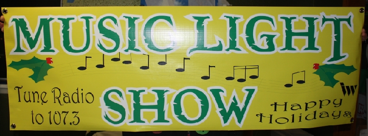 Music Light show tune radio banner print