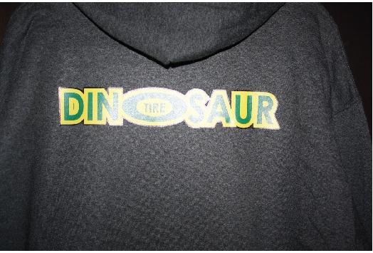 Dinosaur tire hoodie back logo print - G