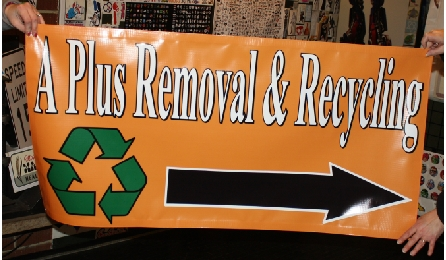 A Plus Removal & Recycling Arrow banner.