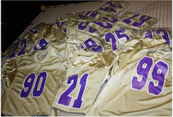 Tacoma Youth Titans Gold Football jerzee