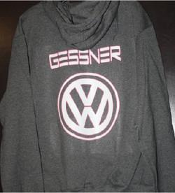 VW Gessner custom hoodie apparel print
