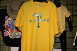 funny gag custom t-shirt subway $5 footl