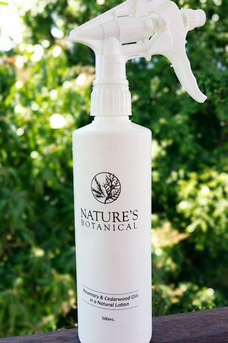 500ml nature's botanical rosemary and cedarwood creme with nozzle all natural DEET-free insect repellent