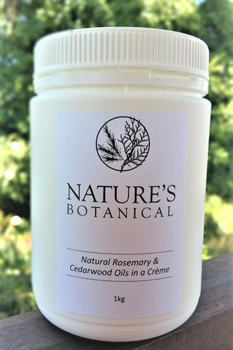 1 kilogram nature's botanical rosemary and cedarwood creme DEET-free natural insect repellent