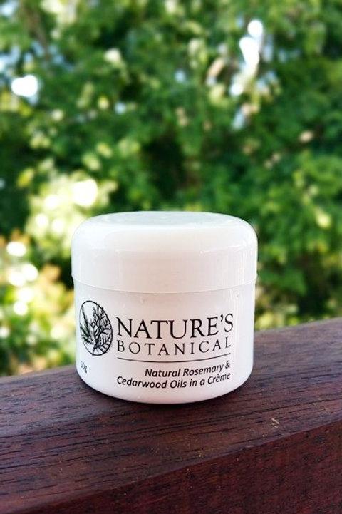 50 gram Nature's botanical rosemary and cedarwood creme