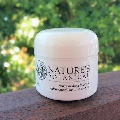 100 gram nature's botanical rosemary and cedarwood creme