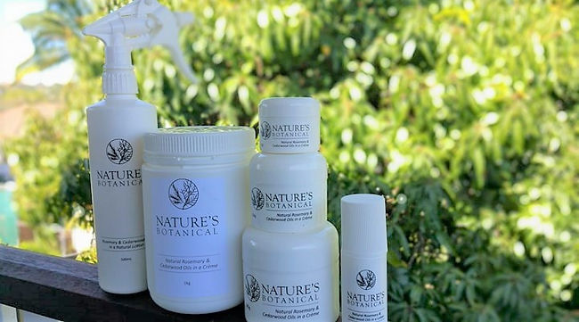 Nature's Botanical Rosemary an Cedarwood Creme in 6 different sizes