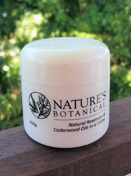260 gram nature's botanical rosemary and cedarwood creme