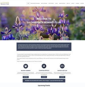 Custom Wordpress Website ~ La Crescenta Woman's Club