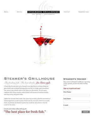 Steamer's Grill House ~ Custom Wordpress Website