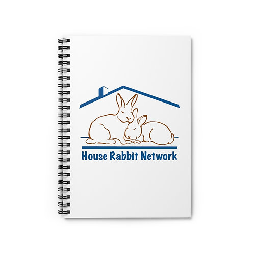 House Rabbit Network Lined Spiral Notebook