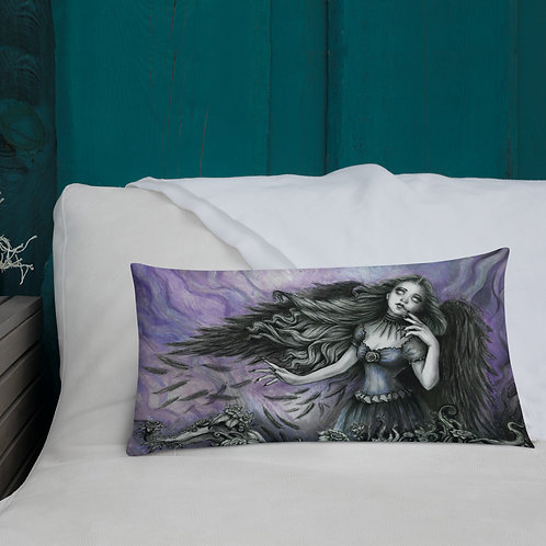 Muse of the Raven Premium Throw  Pillow