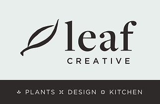 Leaf Creative PLANTS DESIGN KITCHEN LOGO