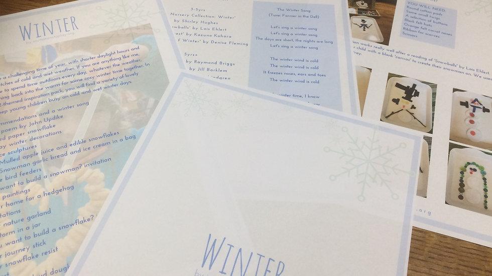 'Winter Inspiration Pack' Digital Resource