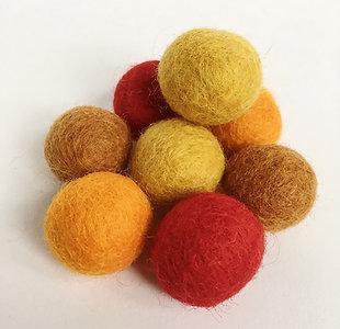 Autumn Wool Felted Balls