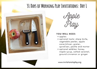 31 Days of Morning Play Invitations_ Day