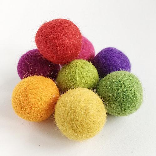 Summer Wool Felted Balls