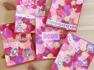 Process Art Valentine's Day Card Tutorial