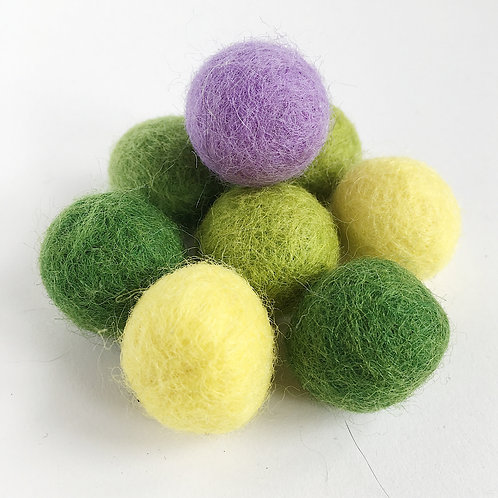 Spring Wool Felted Balls