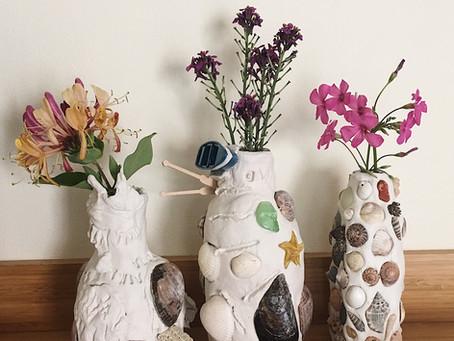 Clay & Shell Vase Tutorial