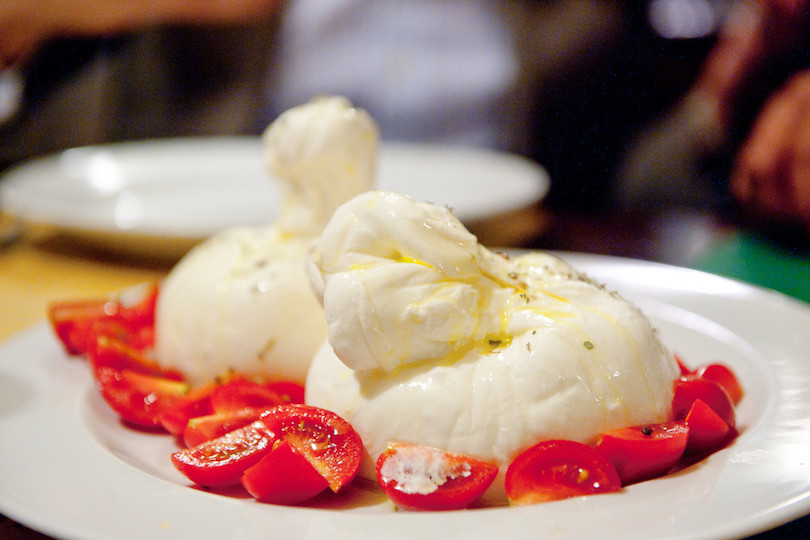 Burrata is a traditional Pugliese cheese